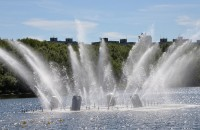 Two fountains opened in Murmansk at the same time